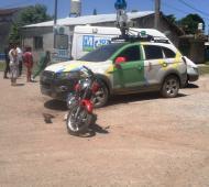 El accidente fue captado por la cámara de un vecino.