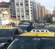 Protesta de taxistas por elevado precio del GNC. Foto: MDPYA