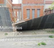 Algunos de los destrozos en la ciudad. Foto: RtpeMultimedios.
