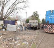 Las tierras estan en el predio de Trenes Argentinos