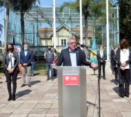 El intendente de Tigre encabezó el acto virtual desde el Museo Sarmiento (en el Delta), en homenaje a los más de 14 mil docentes que enseñan en el distrito.