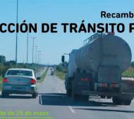 Restricción de camiones por el 25 de Mayo en Provincia de Buenos Aires