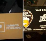 En Pergamino regalaban cerveza a conductores que pasaban la alcoholemia.