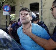 """Dos """"trapitos"""" terminaron detenidos. Foto: Diario Hoy"""