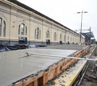 También se están desarrollando obras en la Estación de La Plata (Foto: Municipalidad)