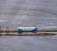 El tren quedó varado entre Alberti y Chivilcoy.