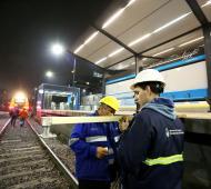 Tren San Martín: Finalizaron la obra de vías entre Muñiz y Cabred