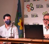 Conferencia de prensa del intendente Miguel Fernández