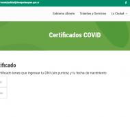 Certificados de alta Covid y de aislamiento online en Trenque Lauquen