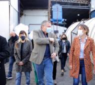 """""""Es importantísimo apoyar a las pymes"""", dijo Malena Galmarini al recorrer empresa que podría proveer a Aysa"""