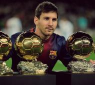 """""""Lio"""" Messi ya consiguió 4 veces el Balón de Oro."""