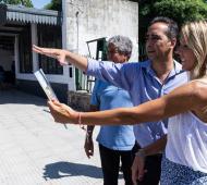 El Intendente de Morón, Ramiro Tagliaferro,y la Secretaria de Infraestructura Urbana de la Nación, Marina Klemensiewicz