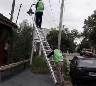 Tigre: Se instalaron más de 250 luminarias de veredas en Rincón de Milberg