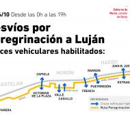 Reorganizan el tránsito durante la Peregrinación a Luján.