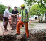 Zamora supervisó el avance de obras en Tigre.