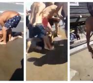 Violenta pelea en las playas de Las Toninas.