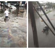 Las inundaciones afectaron a La Matanza y Quilmes.