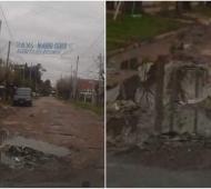 Así quedó la calle recién asfaltada en José C. Paz.