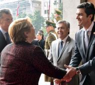 Urtubey con Macri y Bachelet en Chile.