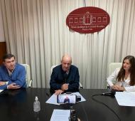 Mariano Uset en conferencia de prensa