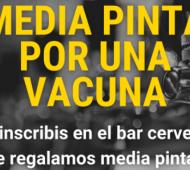"""Tandil: Cerveceros se suman a la campaña """"Media pinta por una vacuna"""""""