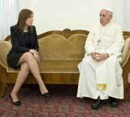 Vidal reunida con Francisco en noviembre de 2013 cuando era vicejefa de gobierno porteño.