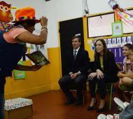 Vidal en la Escuela Especial 501 de Lezama.