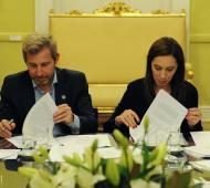 Vidal y Frigerio firmaron el acuerdo.