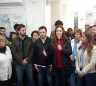 Vidal y Ustarroz en el acto de inauguración de la guardia del hospital de Mercedes.