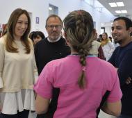 Vidal en Tres de Febrero: Estuvo junto a Valenzuela que busca recuperarse de las PASO