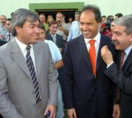 Villordo, junto a Scioli y Aníbal Fernández.
