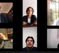 Conte Grand visitó de manera virtual el Departamento Judicial San Nicolás