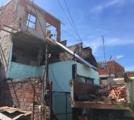 Demolieron viviendas precarias en San Fernando.