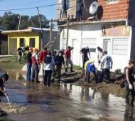 El regreso a los hogares, un desafío más para los que sufrieron la inundación.