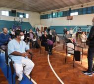 El intendente Diego Valenzuela supervisó la actividad.