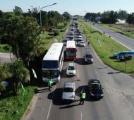 Fin de semana largo: Docena de personas detenidas en controles viales. Foto: Prensa