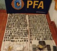 La Policía Federal secuestró más de 40 mil dosis de paco. Foto: Prensa