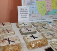 Desbaratan banda narco que traía droga de Bolivia: Siete detenidos y nueve kilos de cocaína secuestrada