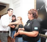 y precandidato presidencial por Alternativa Federal estuvo reunido con trabajadores del sindicato de taxis. Foto: Prensa