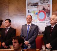 Insaurralde encabezó la apertura de sesiones en Lomas de Zamora. Foto: Prensa