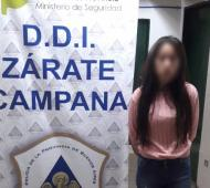 La joven intentó ingresar droga a un penal. Foto: Prensa