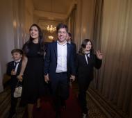 Kicillof con su familia