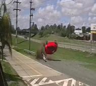 El auto volcó en el kilómetro 42 de Panamericana.