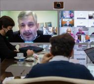 Britos en otra reunión con Kicillof