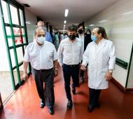 El gobernador visitó el Hospital Evita Pueblo