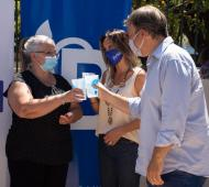 Galmarini y Cascallares inauguraron una red de agua potable