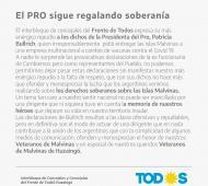 Ituzaingó: El interbloque del Frente de Todos repudió los dichos sobre Malvinas de Patricia Bullrich
