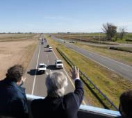 Fernández inauguró tramo de la Autopista Ruta Nacional 7 entre Chacabuco y Junín