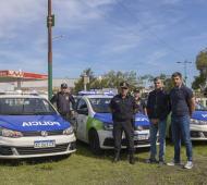 Hurlingham: Zabaleta entregó tres nuevos patrulleros a la Policía