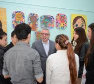 Zamora mostró su apoyo a los trabajadores de la educación.